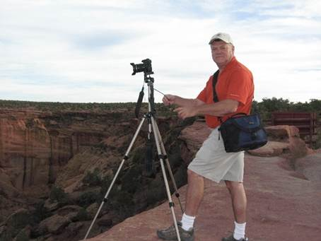 Greg phographing the Grand Canyon.